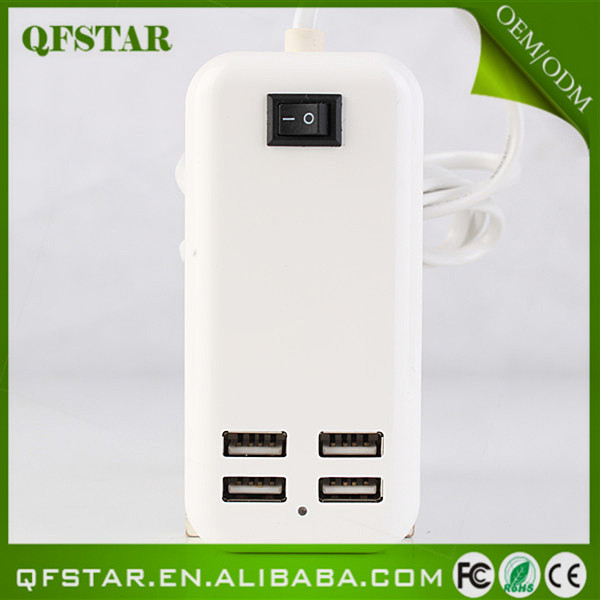 China supply high quality 4 port usb wall charger for cell phone