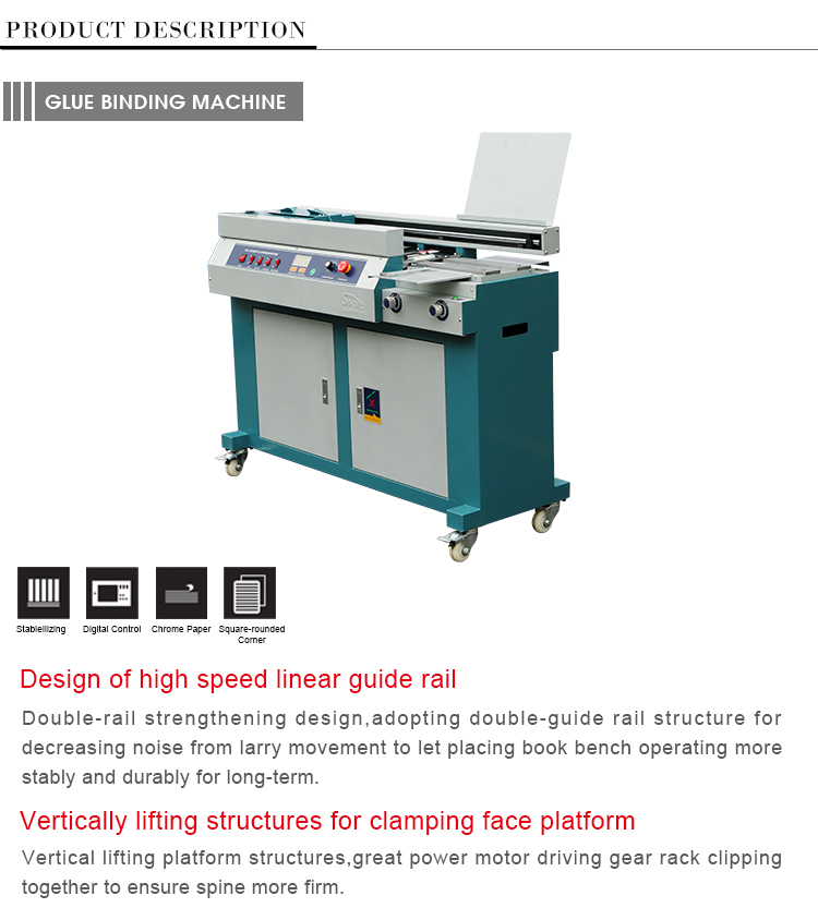Manufacturer Preferential supply binding machine hot glue book binder