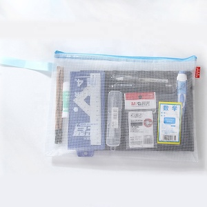 Advertising Top Quality Logo Printed Cool Portable Waterproof Transparent PVC Pencil Pouch Bag