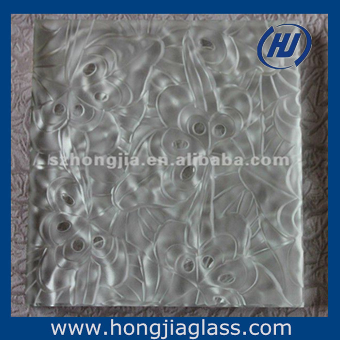 Decorative Acid Etched Glass Frosted Art Architectural Glass Acid ...
