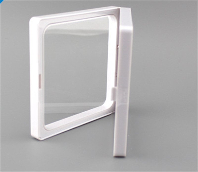 9x9x2cm, clear plastic membranes photo frame display/ collection box/jewelry box