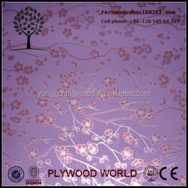 wood grain paper overlay plywood,paper overlay mdf export to asia