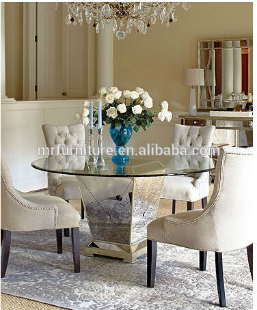 MR-4T0103 Luxury mirrored dining table base, View mirrored dining ...
