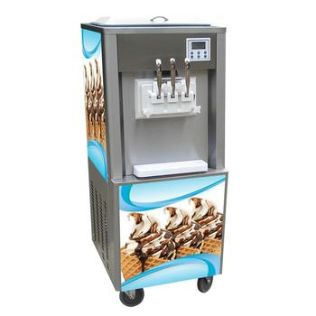 Commercial vertical 3 flavor soft serve ice cream machine factory price