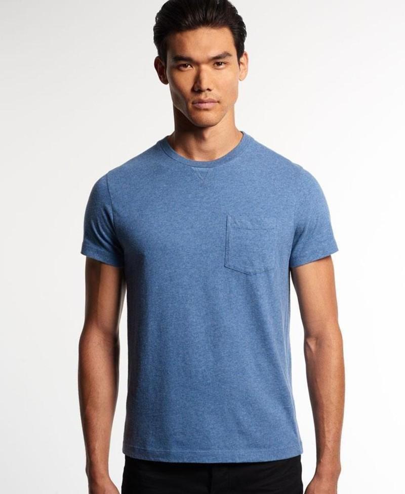 Men 39 s new design bulk blank pocket t shirt buy bulk v for Bulk pocket t shirts