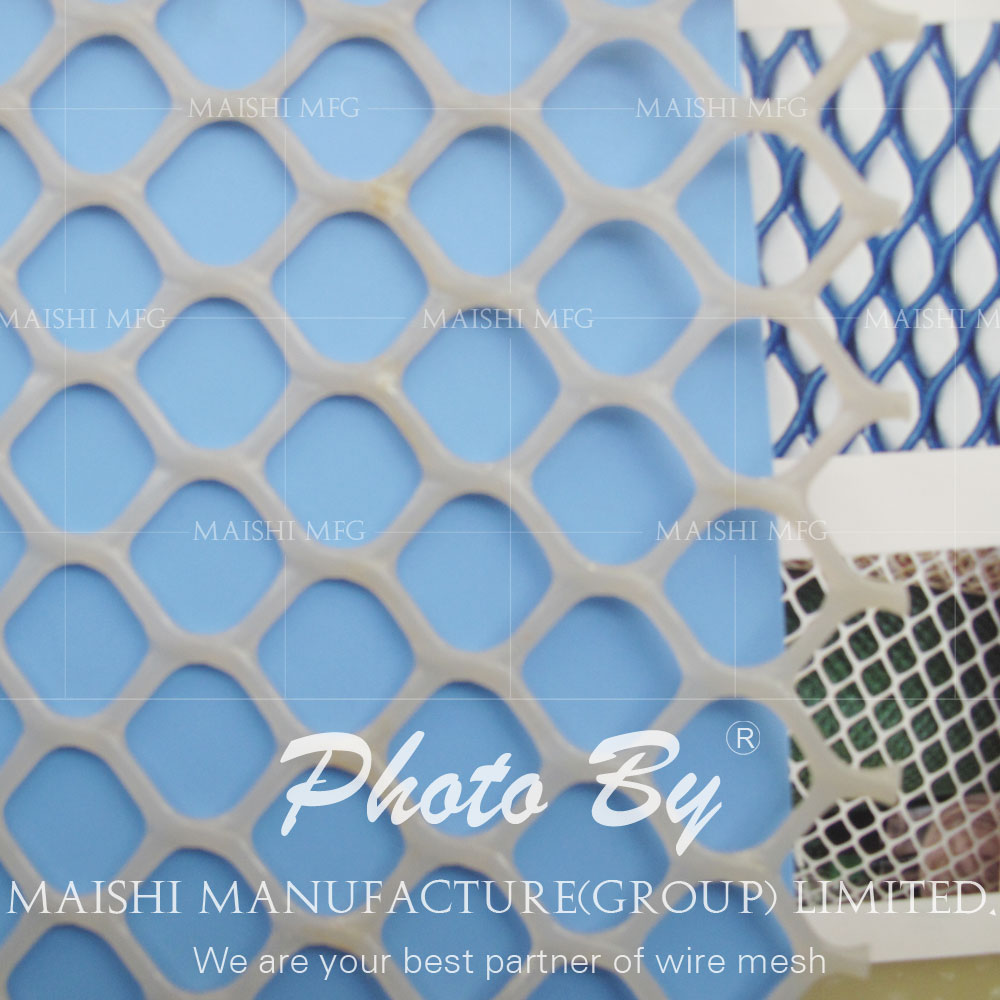Extruded plastic wire mesh