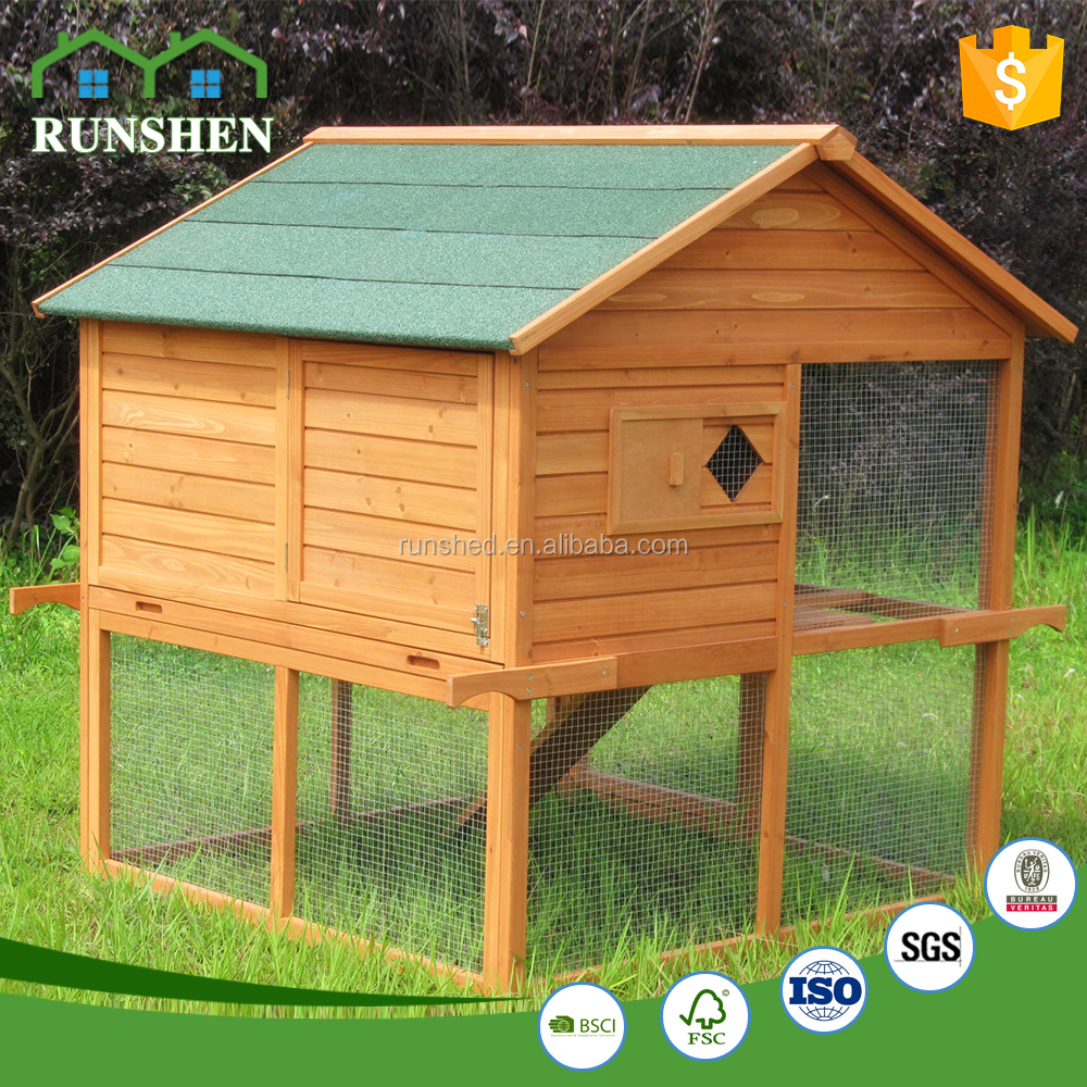 Layer Egg Chicken Cage Wooden Chicken Coops Poultry Farm House Design
