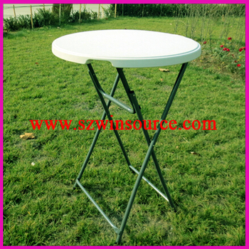 Plastic Folding Table Cocktail Bar Table Foldaway Round Table(WS 12004)