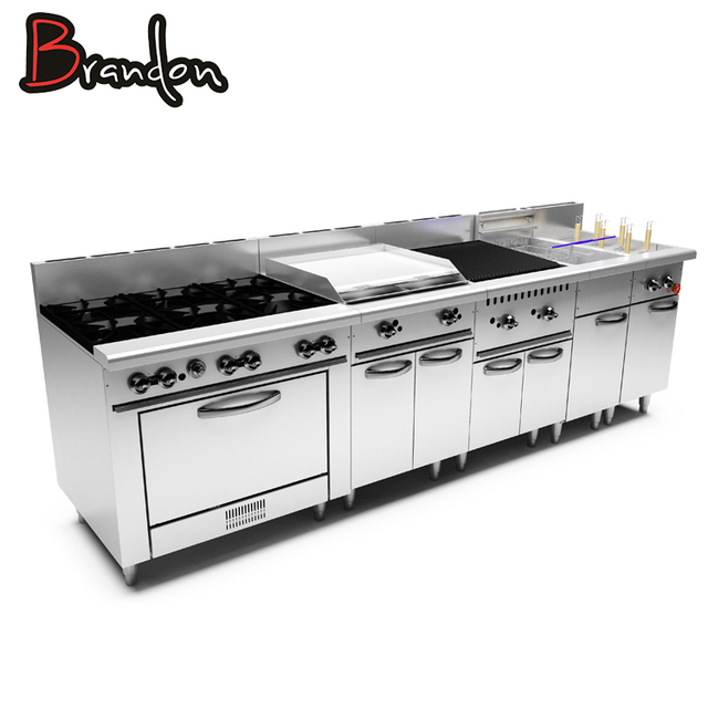 Full Series Kitchen Equipment Modular America Commercial Gas Cooking Range