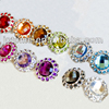 Mixed color Acrylic rhinestone buttons Sewing Rhinestones for Wedding dress/Bags/Shoes flat back/shank