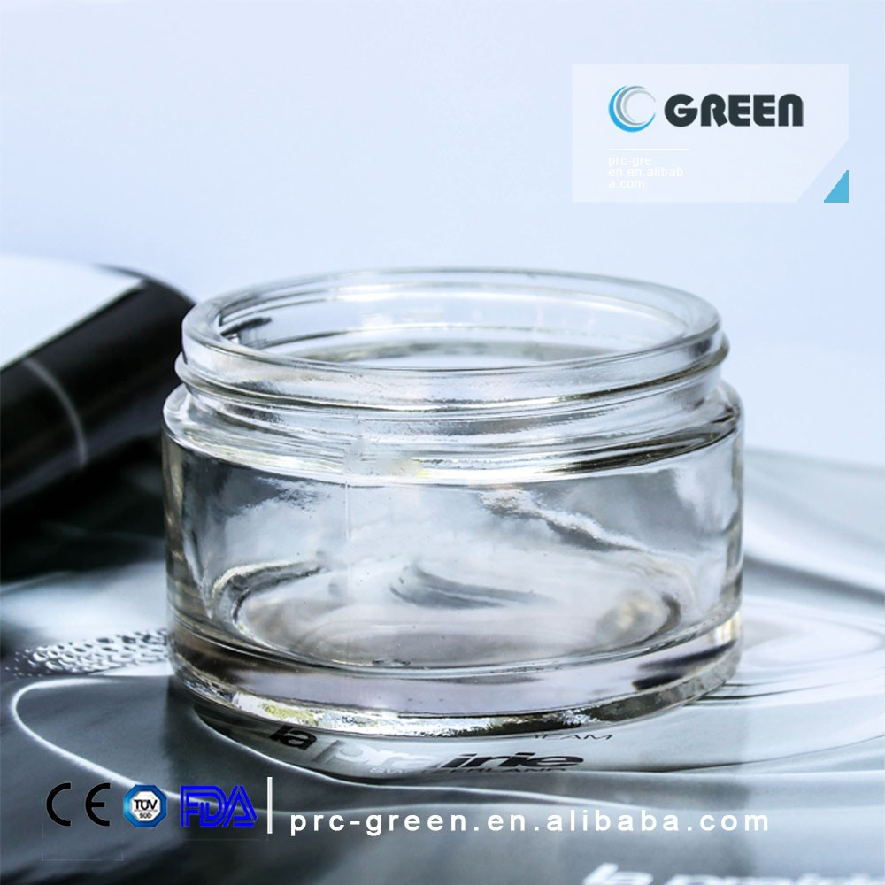 160 ml crystal cylinder shape glass jar for face cream