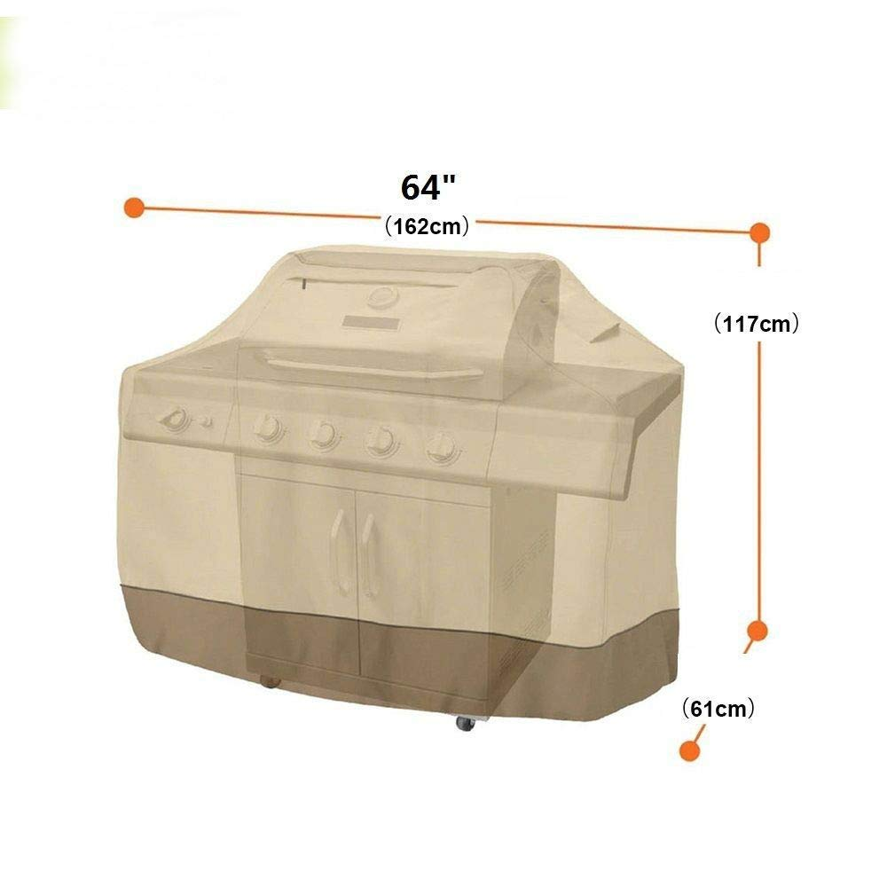 "Heavy Duty BBQ Grill Cover Gas Barbecue Outdoor Waterproof Weber 58 64"" 70"" 72"" (64"" Large)"