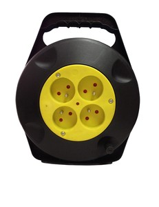 EU or Korea typle electric retractable extension cord cable reel electric reel
