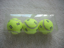 dog tennis ball with bone printed and green play ball 3pc Dog pet customized packaging durable toys free samples