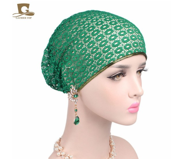 Traditional & Cultural Wear Learned New Elegant Double 3d Flower Muslim Islamic Hijab Inner Caps Beanie Cap Sleep Turban Rhinestone Hat Caps Bonnet At Any Cost