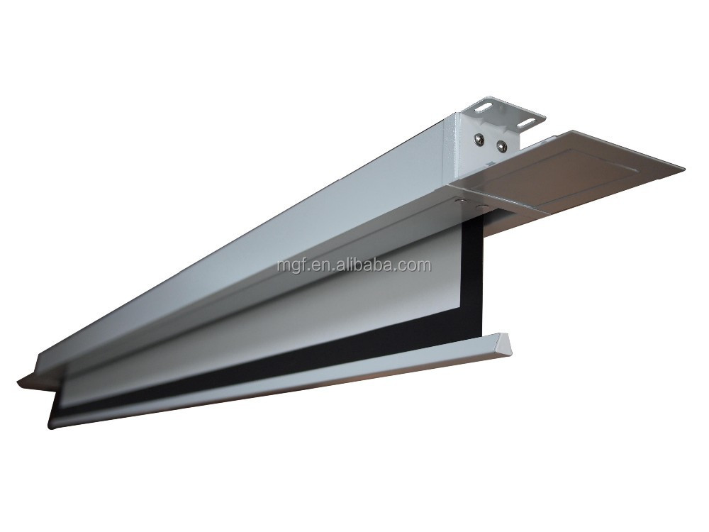 16:10-100 inch Electric in-ceiling style projection screen/ceiling mount motorized screen/Matte white electric screen