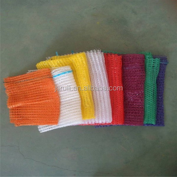 very beautiful all kinds colors knitted plastic mesh bag