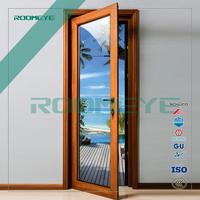 China suppliers aluminium profile door Aluminum clad wood entry door double glazing doors