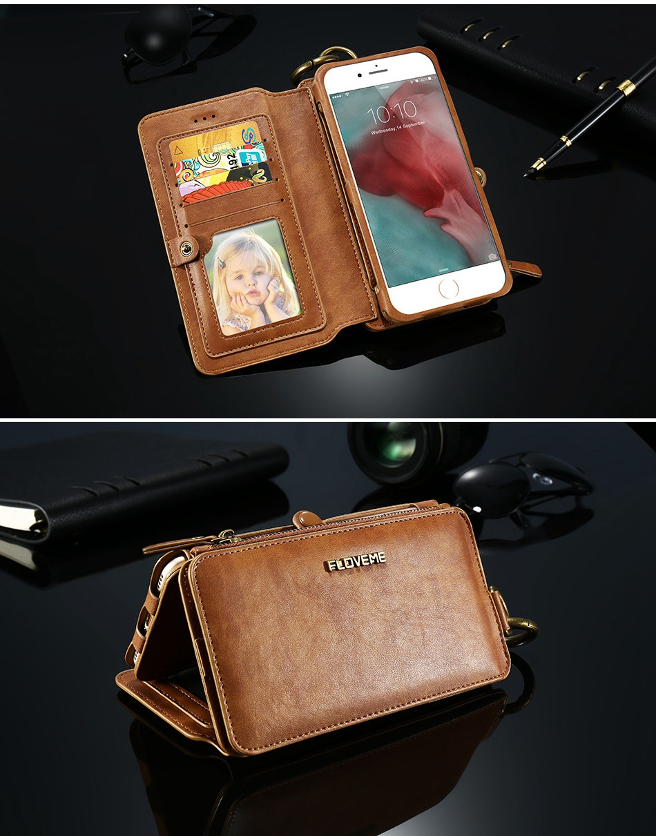 ⊱floveme Wallet Leather ᐂ Case Case For Iphone 8 Iphone 7