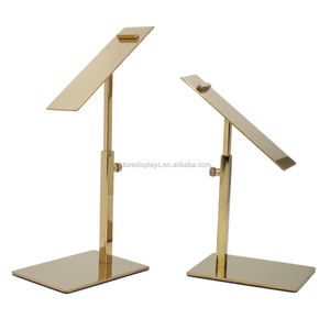 Wholesale Polished Gold Shoe Shine Display Stand for Sale, Shoe Store Display Rack, Shoe Stand Display
