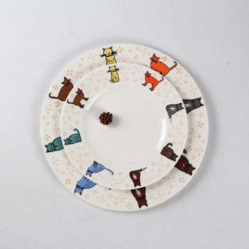 Merveilleux New Design Tableware Dinner Plate / Cat Pattern Kitchen Plates / Queens  Bone China Dining Plate