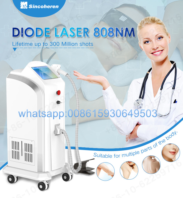 FDA approved sincoheren razorlase 755nm 808nm 1064nm diode laser hair removal beauty machine