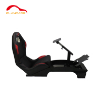 Black Fiber Play Station game bucket seat reclinable folding PS4 racing game seat
