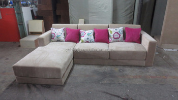 Removable Cover L Shape Fabric Sofa