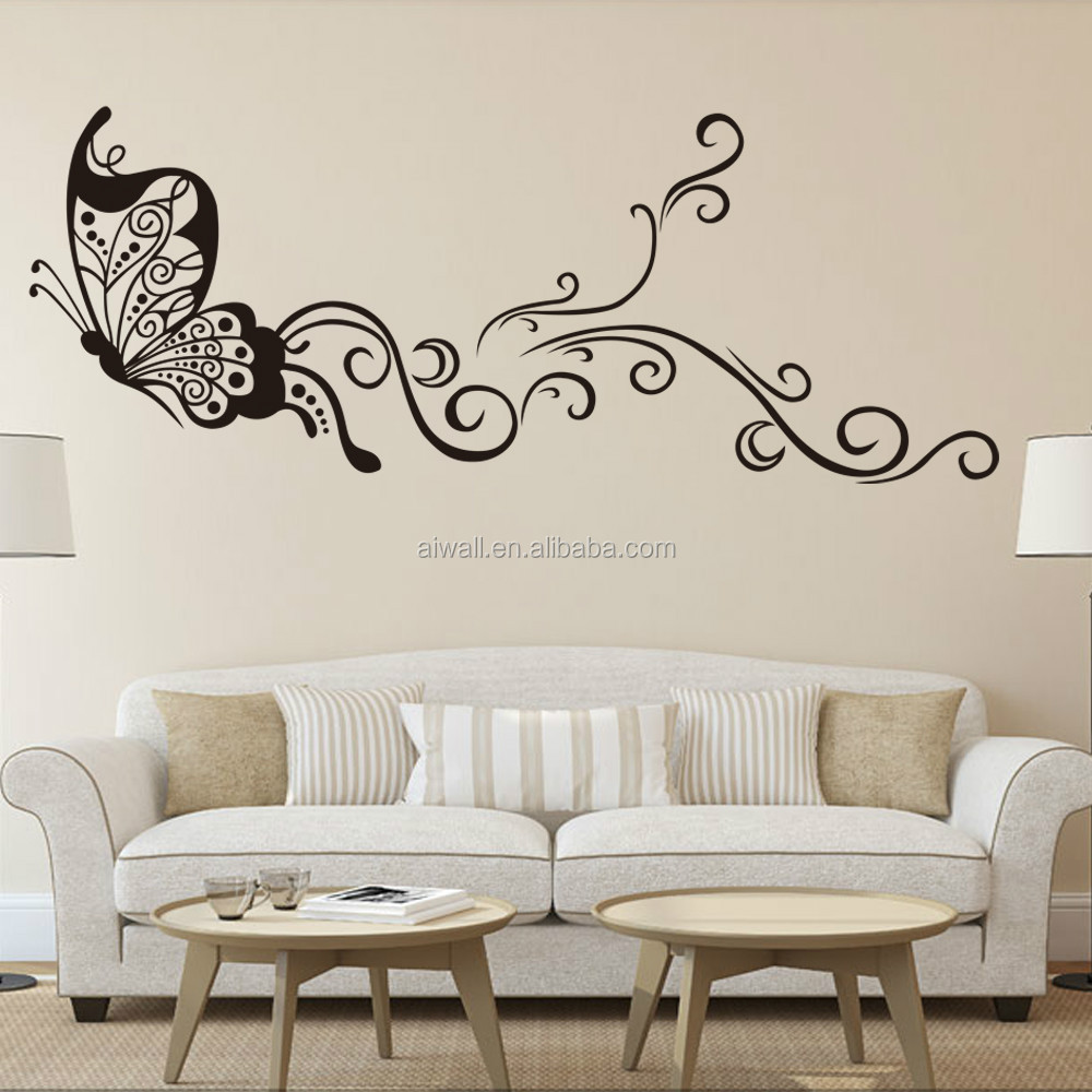 9315 Large Size Butterfly Wal Stickers DIY Home Decorations Wall Decals  Living Room Part 46
