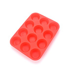 High Quality Cake Decorating Tools 12 Cavities BPA Free Silicone Muffin Cups Silicone Muffin Pan