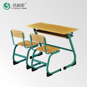Durable Wooden connected school Desk and Chair