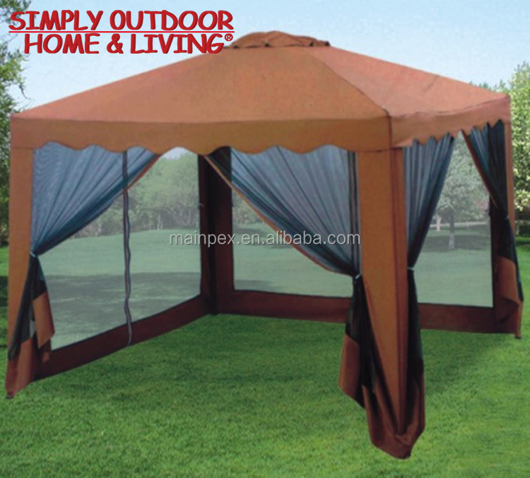 High Quality Chinese Most Popular Trade Show Outdoor Garden Wrought Iron Gazebo Tent Pavilion For Sale