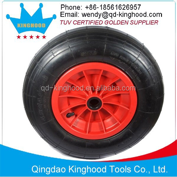 "400mm16"" Pneumatic Inflatable Wheels For Boat Cart Dinghy Launch Trolley"