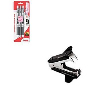 KITPENBL77PBP3ABCUNV00700 - Value Kit - Pentel EnerGel RTX Roller Ball Retractable Gel Pen (PENBL77PBP3ABC) and Universal Jaw Style Staple Remover (UNV00700)