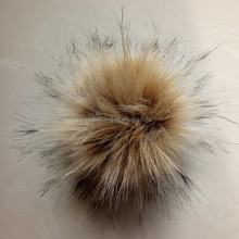 Bulk long hair fur ball 15cm big ball phone accessory faux fur pompom with snap
