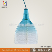 China manufacturer wholesale blue glass chandelier with 3 size 4color 801-141728DBL