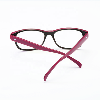 Classic Rose Red Frame Reading Glasses Can Be Customized Blue Light Blocking Reading Glasses