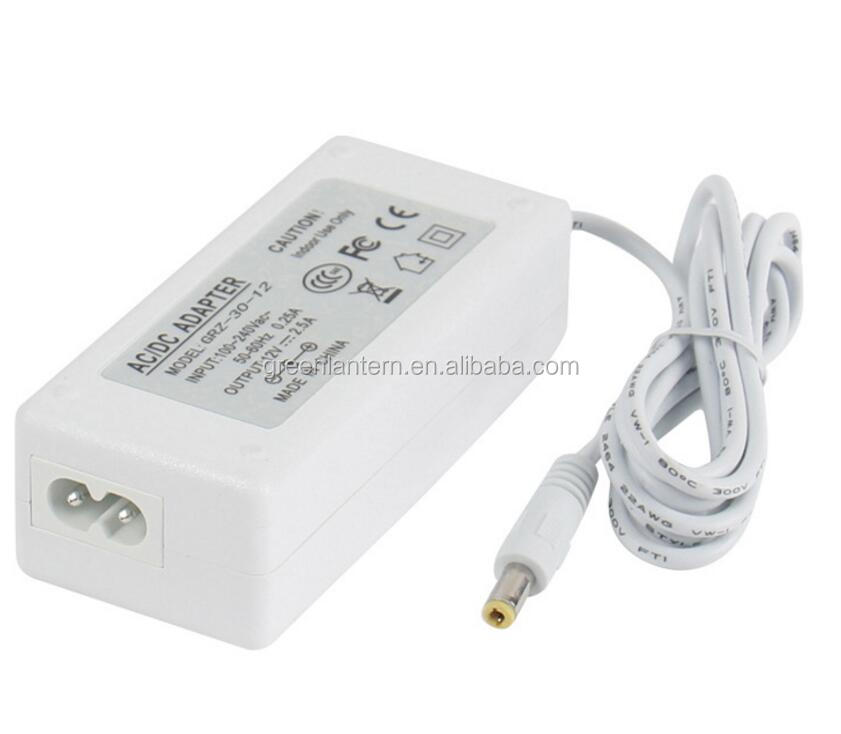 Desk Type 12V 30W AC Adapter 12V DC Power Adapter Charger 12V 2.5A DC Power Supply LCD/LED