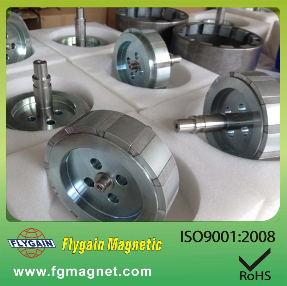 Permanent Motor Rotor Shaft Neodymium Magnetic Assembly