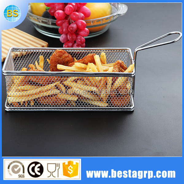 Filters to kitchen oil basket fryer serving oiless french fries mini basket