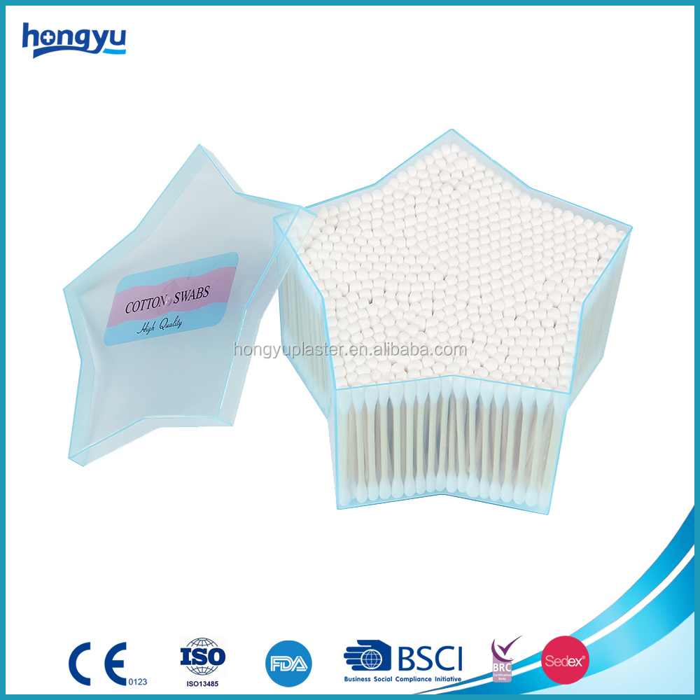 2017 hot selling product sterile bamboo cotton swab
