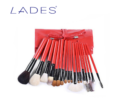 LADES OEM 18pcs Synthetic Hair Make Up Brush Red Makeup Brushes private Label Makeup Brush Kit