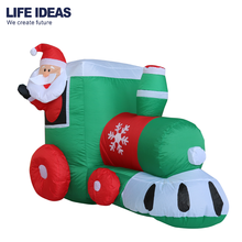New style Christmas Decoration Inflatable Santa Claus takes the train