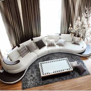 Round Modern leather sofa design