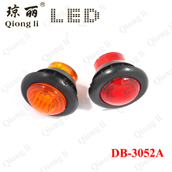 3 4 Inch Mini Round Led Side Marker Lights With Rubber