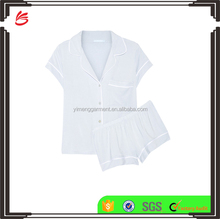 Customed Lounging Wear High Quality Soft Modal Jersey Pajama Set