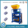 QTF40-1 Fulang low cost simple fly ash hollow brick block press forming making machine price plant