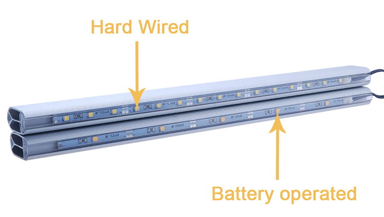 Heavy bearing weight Rechargeable Lithium battery lighted closet rod led with PIR motion sensor