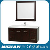 42 Inch Modern Design Wall Mounted Mirrored MDF Bathroom Vanity
