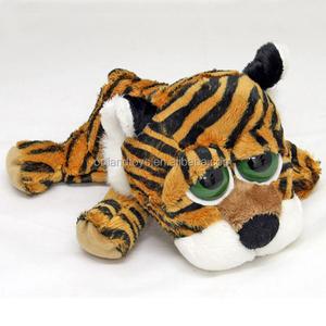 Kingdom Soft Stuffed Animal Cute Tiger Plush Toys With Big Green Eyes